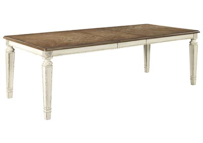 Realyn Rectangular Dining Room Table w/Extension