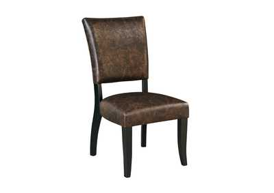 Sommerford Brown Dining Upholstered Side Chair (Set of 2)