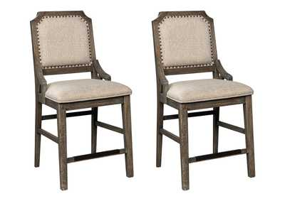 Wyndahl Brown Bar Stool (Set of 2)
