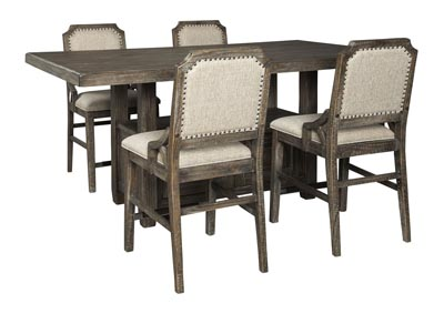 Image for Wyndahl Brown Counter Dining Table w/4 Counter Chair