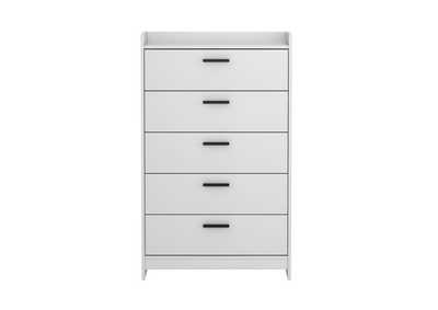 Central Park White Chest of Drawers
