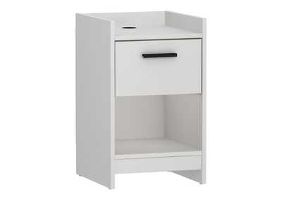 Central Park White Nightstand