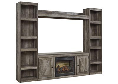 Image for Wynnlow Gray Entertainment Center w/Fireplace Insert Infrared
