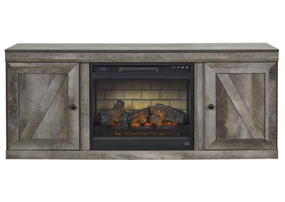 "Wynnlow Gray 63"" TV Stand w/Fireplace Insert Infrared"