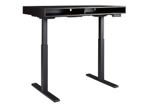 Laney Black Adjustable Height Desk