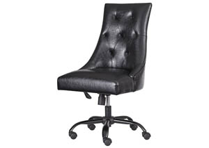 Office Chair Program Black Home Office Swivel Desk Chair,Signature Design By Ashley