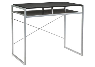 Bertmond Black/Silver Metal Home Office Desk