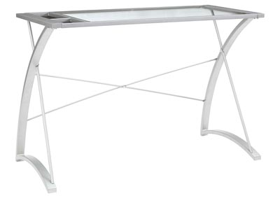 Bertmond Silver Finish Home Office Desk