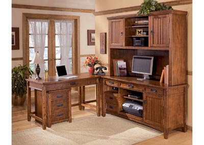 Cross Island 5-Piece L-Shape Desk Unit