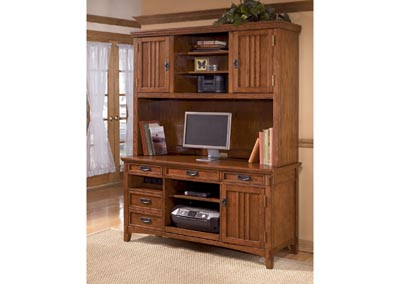 Cross Island Large Credenza & Hutch Set