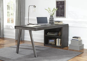 Raventown Grayish Brown Bookcase Desk