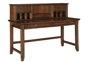 Woodboro Brown Home Office Desk w/Hutch