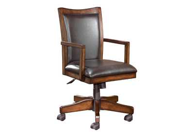 Hamlyn Medium Brown Swivel Desk Chair