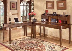 Hamlyn L-Shaped Desk w/Hutch