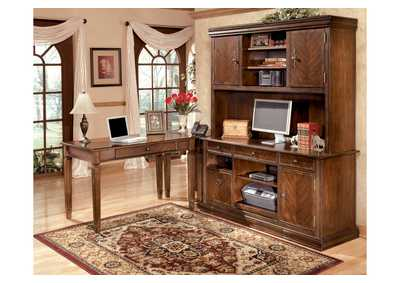 Hamlyn L-Shaped Desk w/ Large Hutch & Credenza