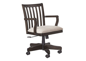 Townser Grayish Brown Home Office Swivel Desk Chair