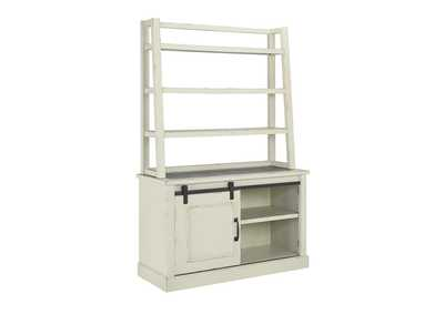 Jonileene Gray Home Office Desk w/Hutch