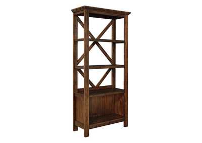 "Image for Baldridge Rustic Brown 75"" Bookcase"