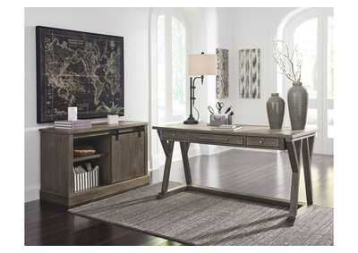 Luxenford Grayish Brown Home Office Large Leg Desk,Signature Design By Ashley