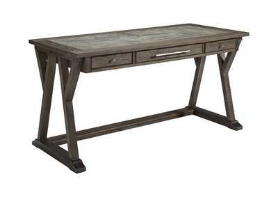 Image for Luxenford Grayish Brown Home Office Large Leg Desk