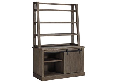 Image for Luxenford Grayish Brown Home Office Desk Hutch