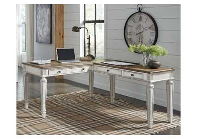 Realyn Brown Home Office Desk w/Return