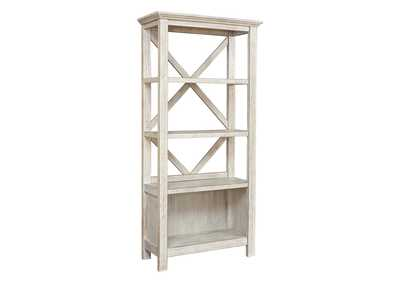 "Carynhurst Whitewash 75"" Bookcase"