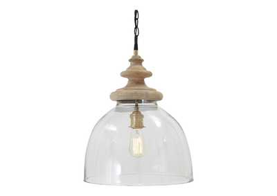 Image for Farica Transparent Glass Pendant Light
