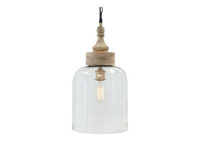 Image for Faiz Transparent Glass Pendant Light