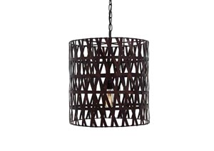 Faolan Antique Copper Finish Metal Pendant Light