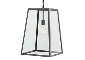Danyale Clear/Black Glass Pendant Light