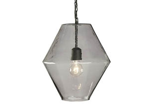 Daquan Purple Glass Pendant Light