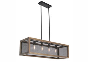 Jodene Brown/Black Wood Pendant Light