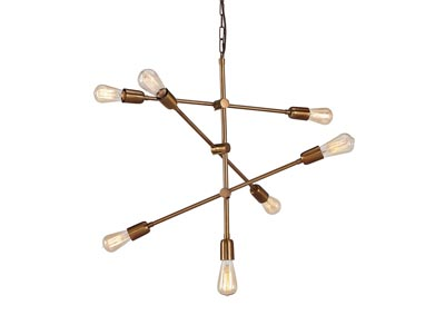 Nastalya Gold Finish Metal Pendant Light
