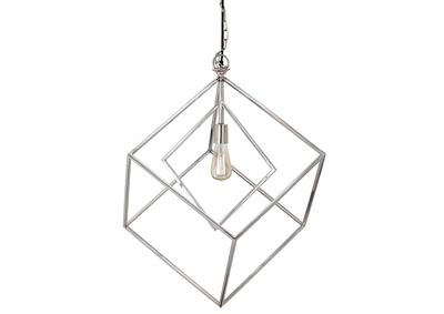 Neysa Silver Finish Metal Pedant Light