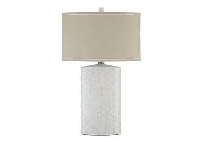Image for Shelvia Antique White Ceramic Table Lamp