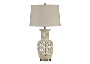 Jayme Cream Ceramic Table Lamp