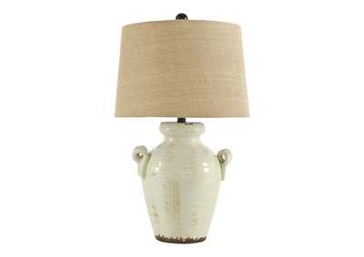 Image for Emelda Cream Ceramic Table Lamp