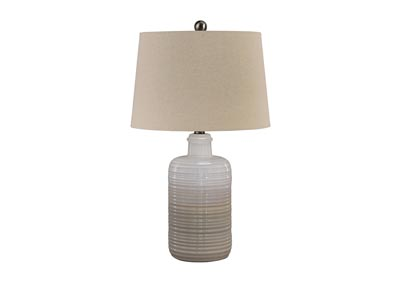 Marnina Taupe Ceramic Table Lamp (Set of 2)