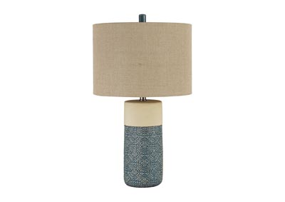 Evalyn Green Ceramic Table Lamp (Set of 2)