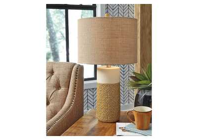 Evalyn Yellow Table Lamp (Set of 2)
