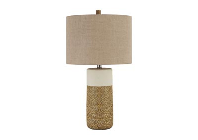 Evalyn Ochre Ceramic Table Lamp (Set of 2)