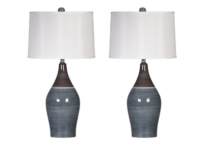 Image for Multi Gray Niobe Ceramic Table Lamp (Set of 2)