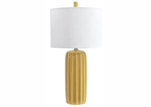 Adorlee Yellow Ceramic Table Lamp (Set of 2)