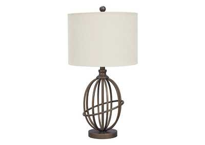 Manasa Bronze Metal Table Lamp