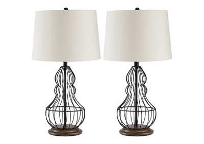 Maconaque Black Table Lamp (Set of 2)