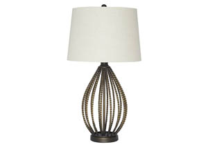 Darrius Bronze Finish Metal Table Lamp
