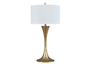Joakim Antique Brass Finish Metal Table Lamp