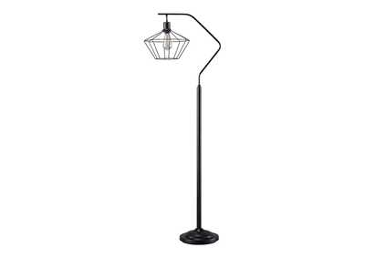 Image for Makeika Black Metal Floor Lamp