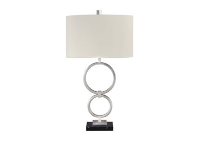 Mansoor Silver Finish Metal Table Lamp (Set of 2)